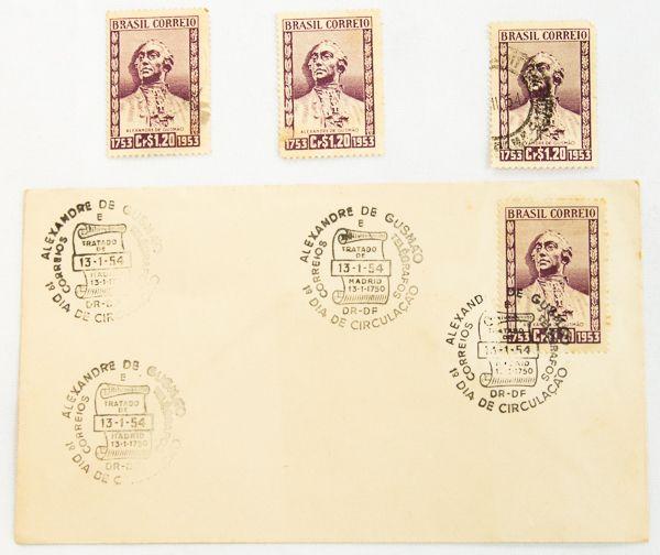 Envelope Postal Tratado De Madrid 1750 Carimbos 1o D