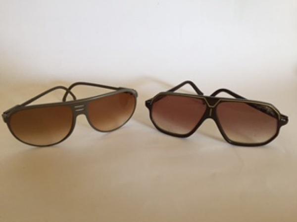 14c3077b0 2 óculos de sol esportivos vintage. 1 da marca Modalite, made in Italy. 1  da marca Papillon modelo 420, made in Italy. Ambos masculinos.