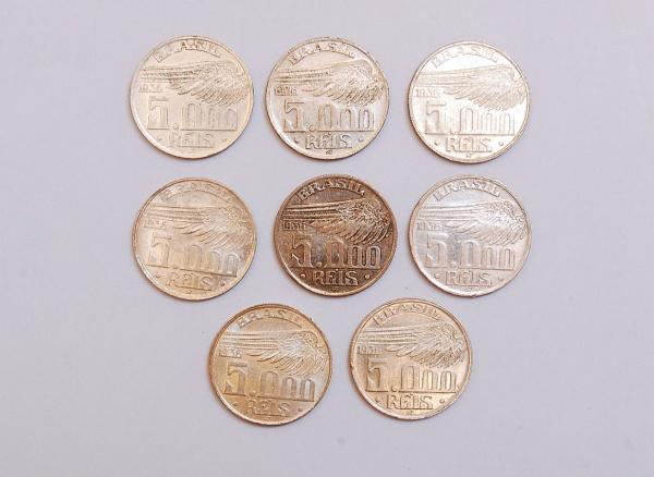 (8) 5000 Réis - Prata - Datados de 1936. 72e8fa6e31