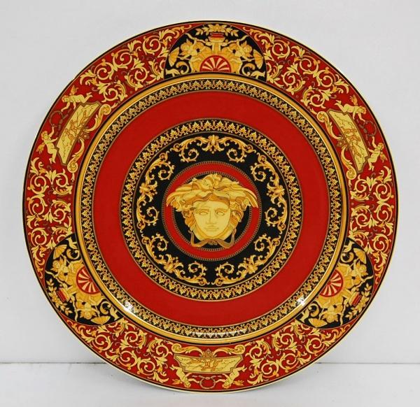 ROSENTHAL - Prato de porcelana alemã decorado com motivo Versace