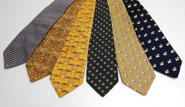 (6) Gravatas diversas - seda - Marcas