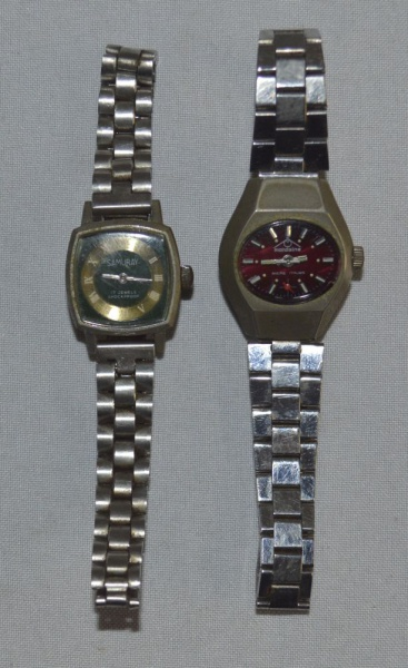 ab9ad9fb15b 02 relógios  Mondaine Ancre 17 Rubis HZ 1062 e Samuray 17 Jewel Shockproof  6854.