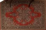 Tapete brasileiro  ao gosto persa c/ decoração floral, med. 292 x 200cm = 5,84m².