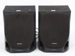 AIWA - Duas caixas de som, twin DVCT, 3 way bass, linha preta, med. 24 x 22 x 30cm.