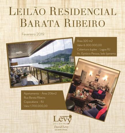 LEILÃO 1214 - LEILÃO RESIDENCIAL BARATA RIBEIRO - ACERVO PARTICULAR