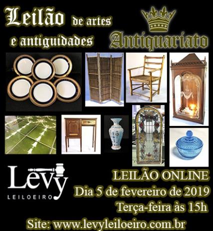 LEILÃO 1220 - 6º LEILÃO ANTIQUARIATO DE ARTES, ANTIGUIDADES E CURIOSIDADES