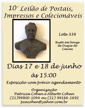10 LEILÃO DE POSTAIS IMPRESSOS E COLECIONÁVEIS
