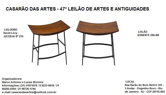 CASARÃO DAS ARTES - 47º LEILÃO DE ARTES E ANTIGUIDADES - TEL.: 21 31971076