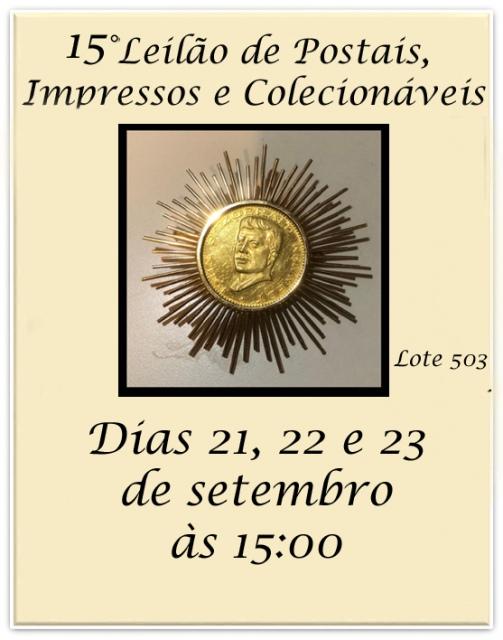 15º LEILÃO DE POSTAIS, IMPRESSOS E COLECIONÁVEIS