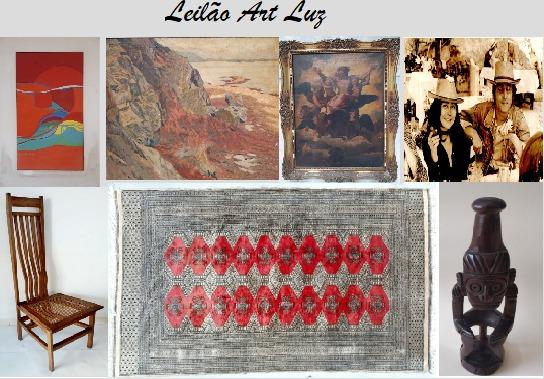 LEILÃO ART LUZ -  QUADROS, ARTE POPULAR E COLECIONISMO.