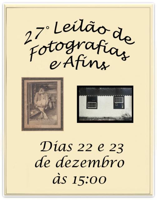26º LEILÃO DE FOTOGRAFIAS  E AFINS
