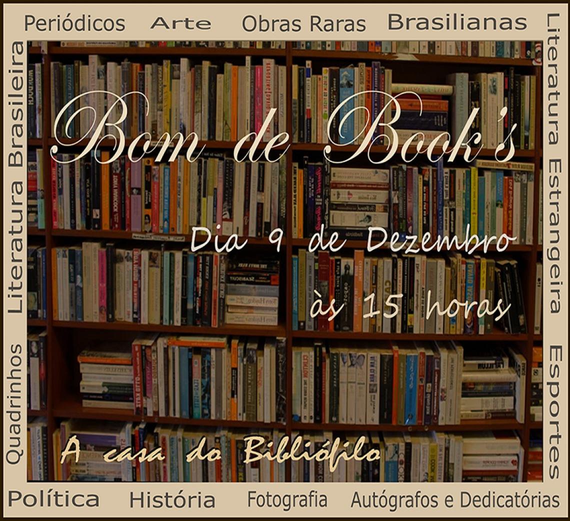 LEILÃO Bom de Books - 9 de DEZEMBRO DE 2020