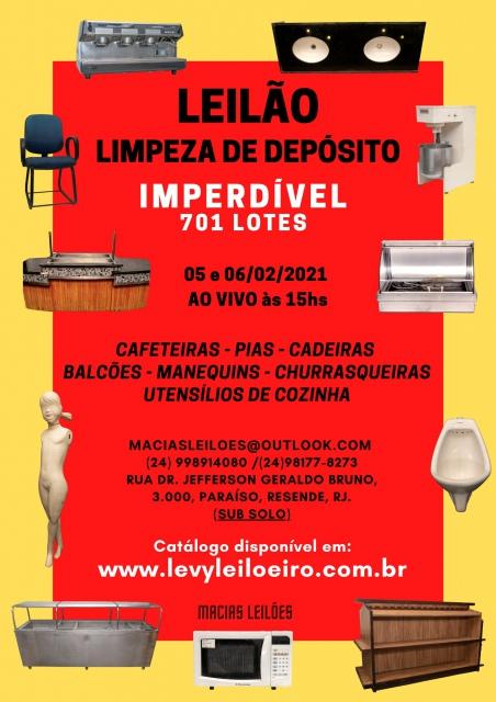 LEILÃO LIMPEZA DE DEPÓSITO