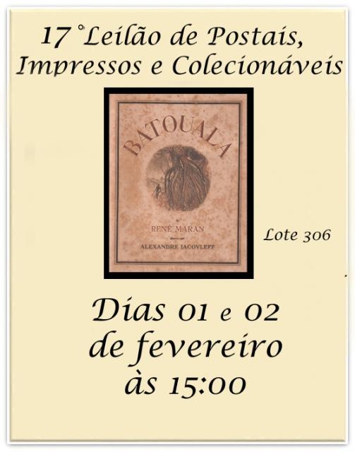 17 LEILÃO DE POSTAIS, IMPRESSOS E COLECIONÁVEIS