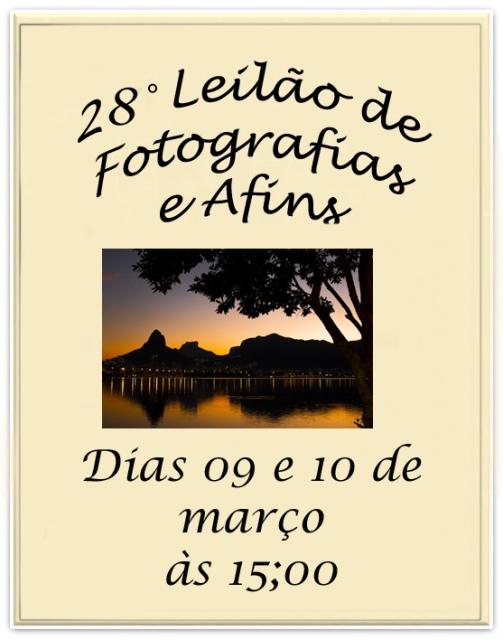 28º Leilão de Fotografias e Afins