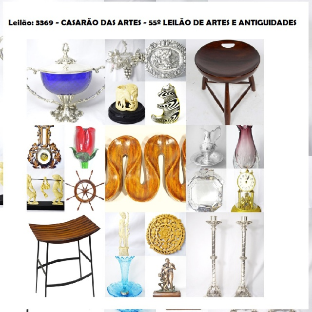 CASARÃO DAS ARTES - 55º LEILÃO DE ARTES E ANTIGUIDADES - TEL.: 21 31971076