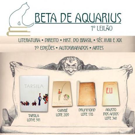 1º LEILÃO DE LIVROS DA LIVRARIA BETA DE AQUARIUS